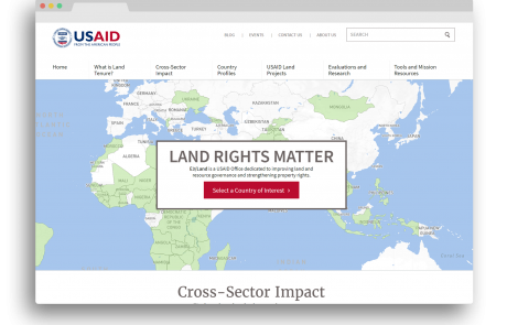 View of the redesigned LandLinks website